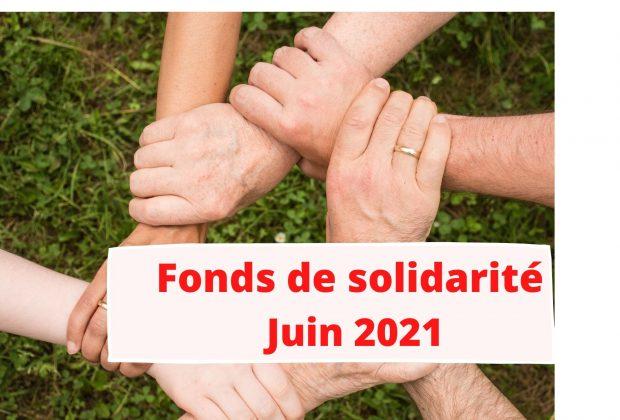 Fonds de solidarité : le formulaire de juin 2021 disponible / 23/07/2021