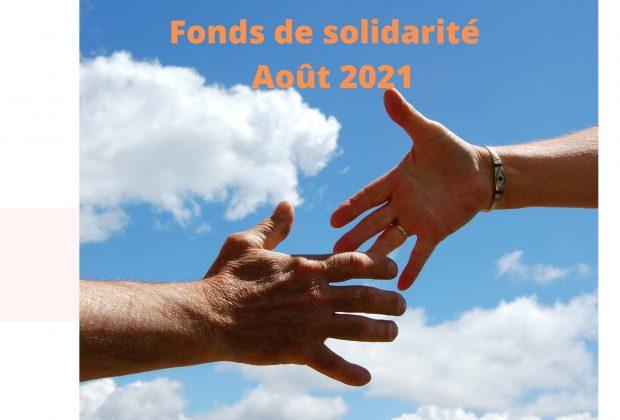 Fonds de solidarité : formulaire du mois d'août 2021 / 16/09/2021