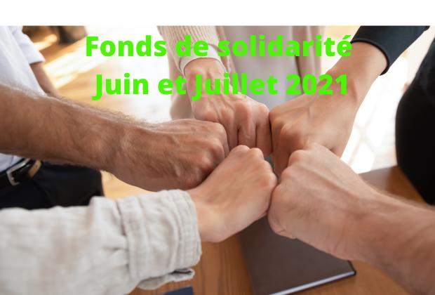 Fonds de solidarité : juin & juillet 2021 / 06 juillet 2021