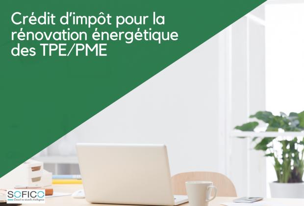 Crédit d'impôt pour la rénovation énergétique des TPE/PME   17 mai 2021