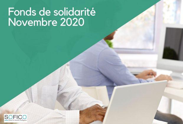 Evolution du fonds de solidarité  | 27 novembre 2020